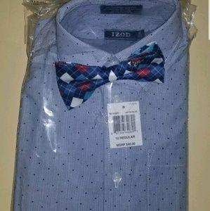 Izod Boys Size 10 Dress Shirt with Bow Tie